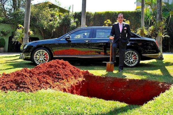The Man Who Nearly Buried His Bentley For The Most Amazing Reason